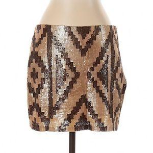 🌴Haute Hippie Sequined Silk Skirt